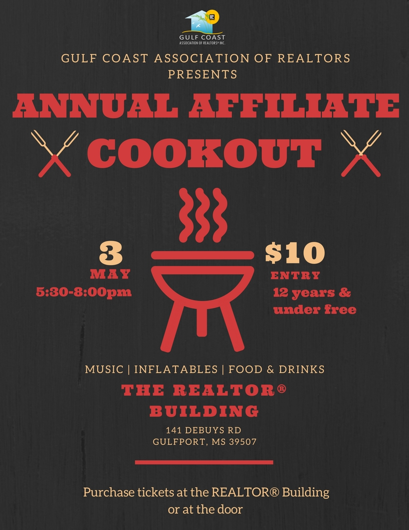 2018 Affiliate Cookout Flyer w background